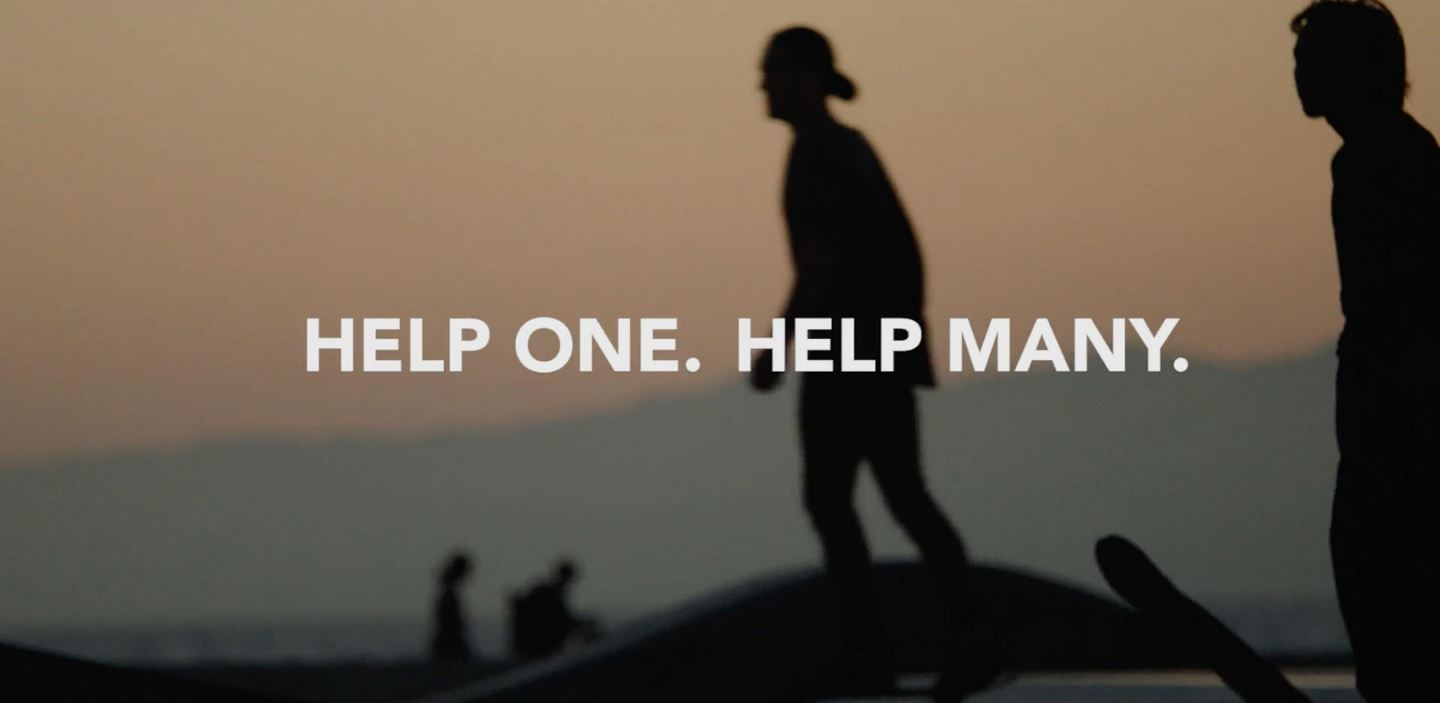 silouette of man: help one help many